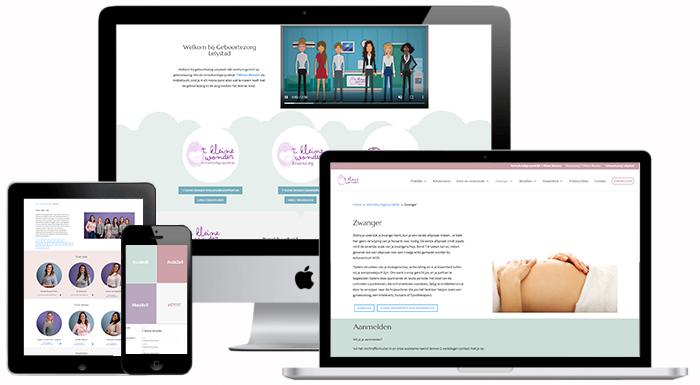 VP Design - Portfolio Website Design - Geboortezorg Lelystad en Verloskundigenpraktijk 't Kleine Wonder - Diverse Devices