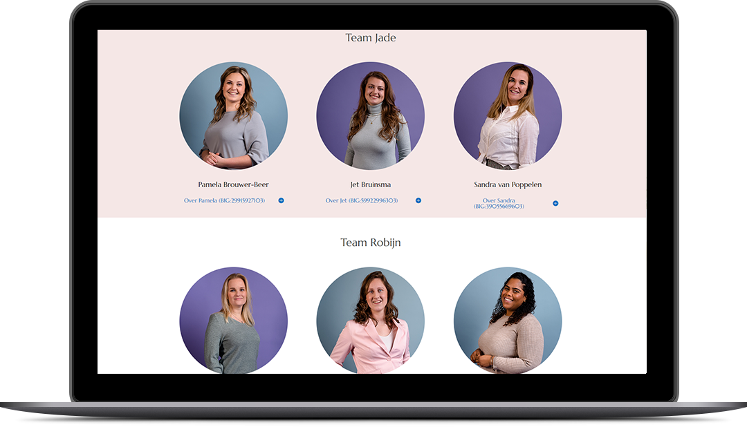 VP Design - Portfolio Website Design - Geboortezorg Lelystad en Verloskundigenpraktijk 't Kleine Wonder - Laptop