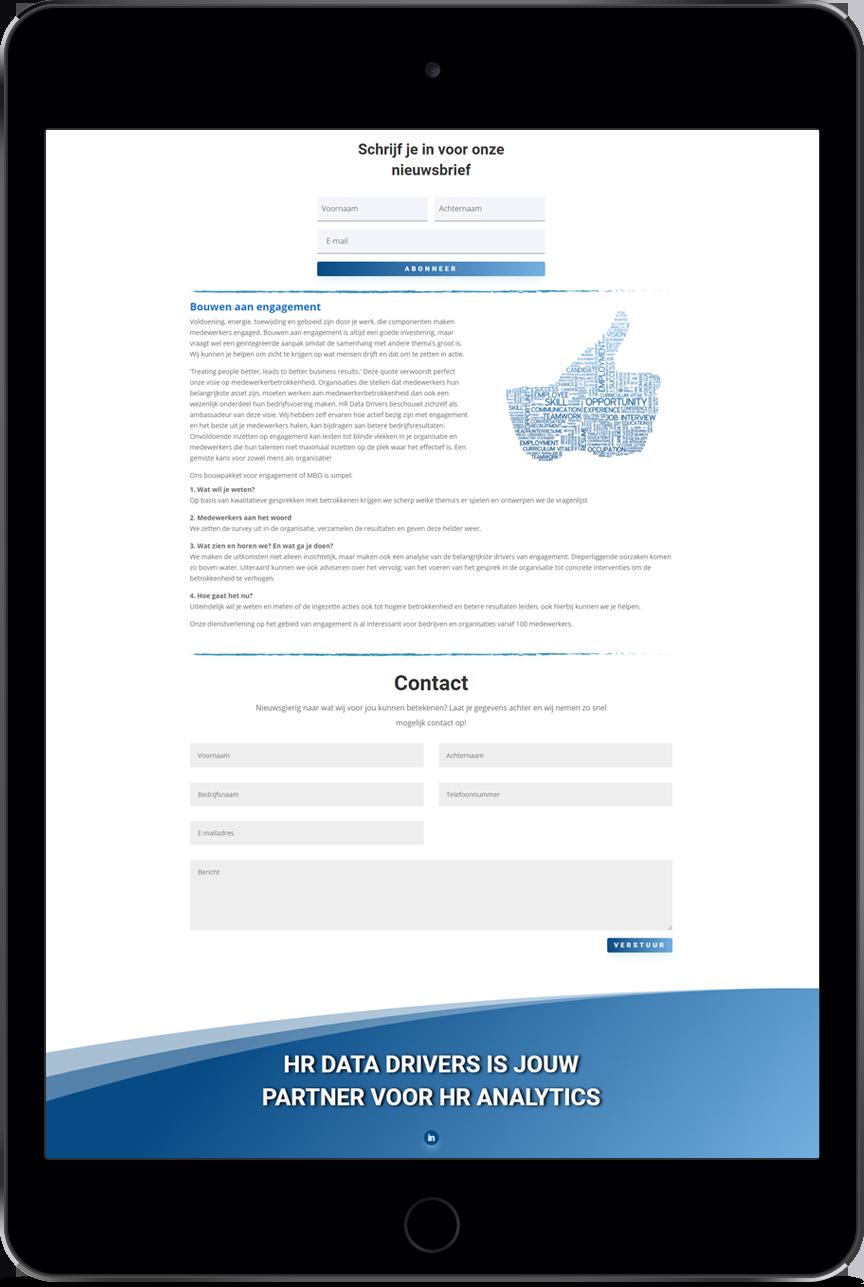 VP Design - Portfolio Website Design - HR Data Drivers